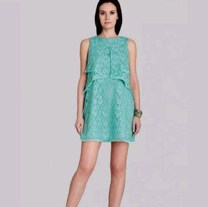 BCBG Maxazria Aqua Amelie Lace Shift Mini Dress